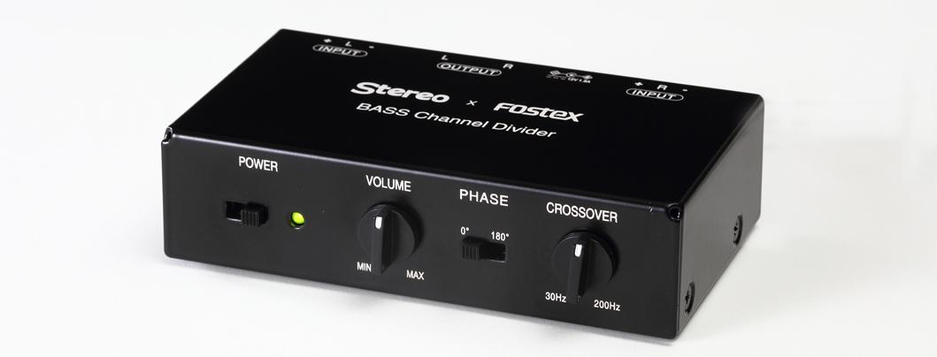 "ONTOMO MOOK Stereo編『これで決まる! 本物の低音力』の特別付録  Stereo × Fostex 特別企画  サブウーファー用チャンネルデバイダー ""BASS Channel Divider""  発売前先行お披露目・説明会"