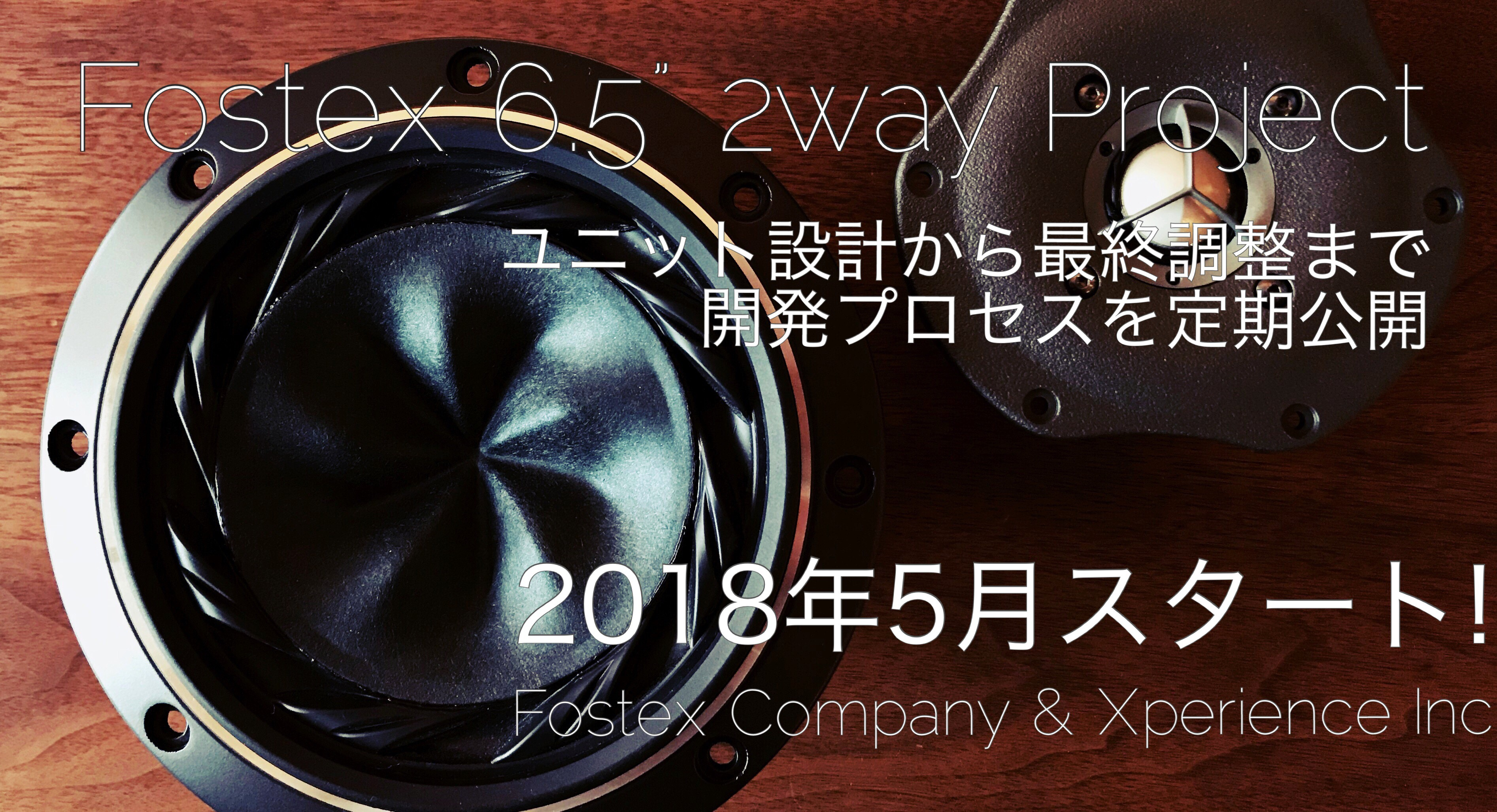 FOSTEX 6.5″ 2way Project 始動