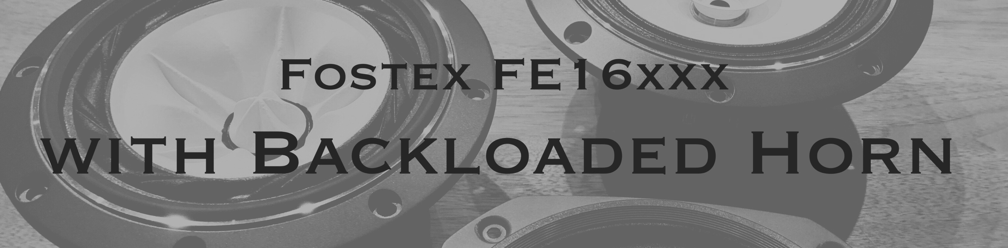 Fostex FE16xxx with Backloaded Horn